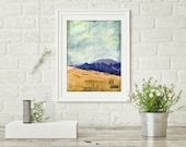 "Great Sand Dune National Park Print, Mixed Media Print, Colorado Print, Landscape Print, Colorado Gift, 8""x10"" or 11""x14"", ""Sand Dunes"""