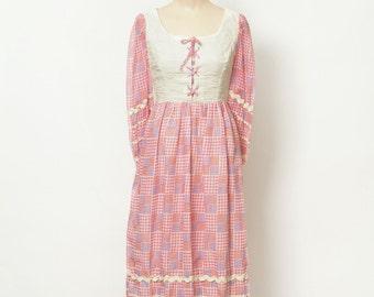Vintage 70s Dress /Boho Dress / Vintage Dress / Dress / Maxi dress / 1970s Maxi dress / 70s Festival Dress Spring Dress / hippie dress / mod