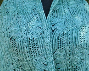 Knit Shawl Pattern: Matsuyama Lace Shawl Knitting Pattern