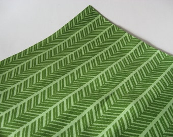 Beautiful thick canvas vintage patio boat outdoor fabric green white arrow herringbone 2 plus yards available