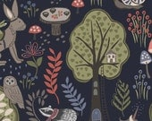 Enchanted Forest on Midnight Blue  185.3 - ENCHANTED FOREST - Lewis and Irene - By the Yard