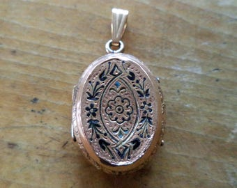 Antique Enamel Gold Filled Victorian Locket