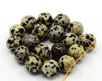 Dalmatian Jasper Beads 8mm Beads Gemstone Beads Authentic Gemstones 8mm Gemstone Beads Speckled Beads Full Strand