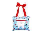 Tooth Fairy Pillow Boys Tooth Fairy Personalized Tooth Fairy Gift for Boys Personalized Tooth Fairy Pouch in Ninja Karate Print