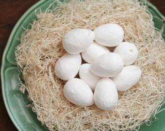 BULK Spun Cotton Eggs, 40mm - Vintage-Style Craft Shapes, 50 Pcs.