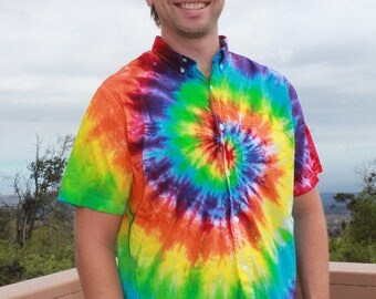 "Tie Dye Men's Old Navy ""The Classic Shirt"" | Sizes Medium through 2XL"