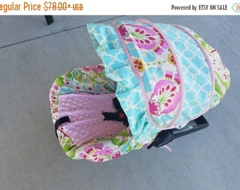 SALE Baby girl Infant Car Seat Cover & ruffle, Baby Car Seat Covers, Car Seat Slipcovers,Baby Girl with ruffle Car Seat Covers, Infant Cover