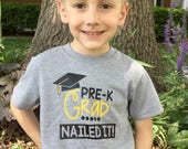 "Pre-K Grad tee ""Nailed it"""