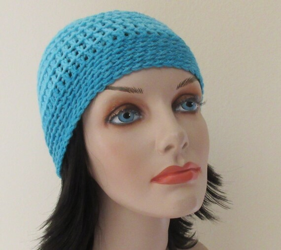 Blue Beanie Cold Weather Accessory Hockey Mom Skiing Snow Playing Ice Skating Wool Hat