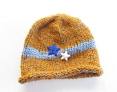 Child's Gold and Blue Hat