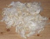 Doll Hair Wensleydale Locks Shiny White Curls Fiber Spinning Felting 4.8 ounces