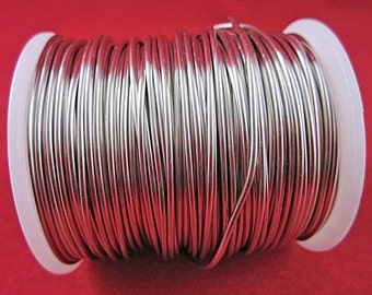 16 Gauge, Round, German Silver Wire (Bare), Bulk 125 Foot Spool, Wire Wrapping, Jewelry, Pendants, Bracelets, Crafts