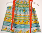 FOR WINDILINN ONLY - Pillowcase Dress With Ducks in Rows