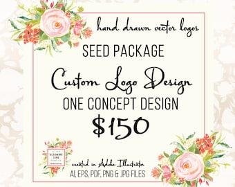 Custom Logo Design - Business Logo Design Graphic Design Hand Drawn Custom Logo Design Illustrated Custom Logo Design
