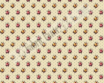 MACIE's JOURNAL Rosebuds - Quilt Fabric - Civil War Reproduction by Judie Rothermel - Marcus Brothers -  (R33-2360-135) ~ By The 1/2 Yard