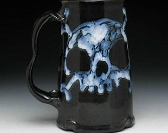 Ghost Skull & Crossbones Beer Mug