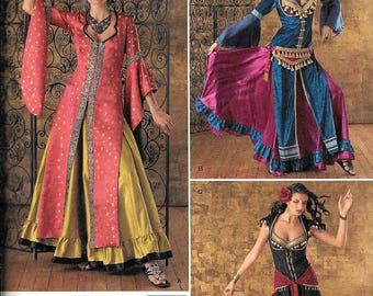 Simplicity 2159 Misses Belly Dancing Gypsy Costume Sewing Pattern UNCUT Size 6, 8, 10, 12