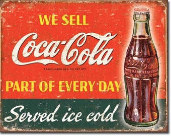 CoCa Cola vintage style tin sign, retro metal sign, coke, soda