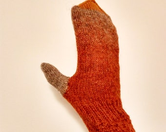 "Warm mittens for woman,""Welcome Autumn"",made from Kauni Yarn. Hand knitted gloves"