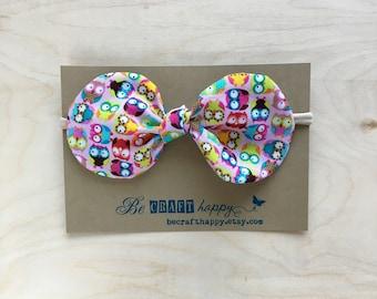 Bow Headband - Mini Owls