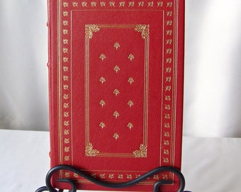 Vintage Guy de Maupassant Stories Franklin Library 1980 Full Leather Bound 22k Gold Accents 100 Greatest Books Collection