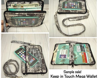 READY TO SHIP • cell phone wristlet • sample sale • Keep in Touch Mega Wallet™