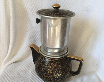 Vintage Coffee pot, mother's day gift, coffee lover gift, coffee lover, french country decor, mid century kitchen, fathers day gift, coffee