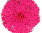 Juju Feather Headdress Bamileke Cameroon Africa Pink 104833
