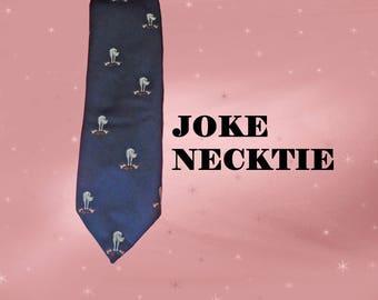 Joke Necktie, Vintage Joke Tie, Vintage Club Tie, Horses Ass Necktie, Joke Gift For Men, Funny Guy? Bad Day? Feeling Like a Horse's Ass?