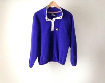90s GRUNGE fleece cobalt BLUE soft WOOLRICH style ski fleece