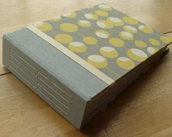 Gray and Yellow Photo Album/ Photo Guest Book