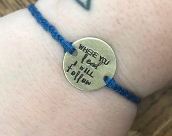 Gilmore Girls - Where You Lead, I Will Follow lyrics bracelet