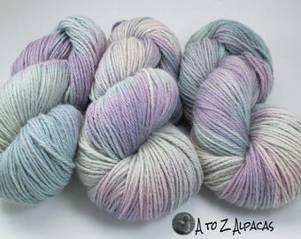 Royal Baby Alpaca Yarn Bulky Weight Hand Dyed Alpaca Yarn OOAK Scentsie Sisters