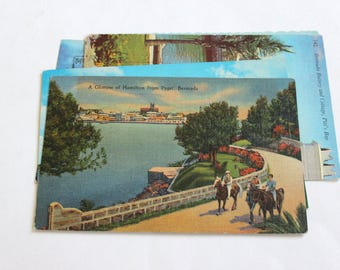 8 Vintage Bermuda Postcards Used
