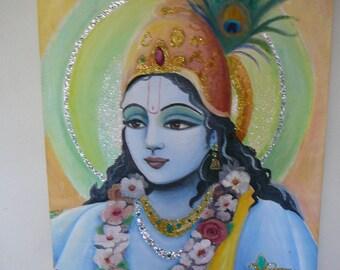 Maha Visnu canvas wall art syamarts original oil painting on canvas