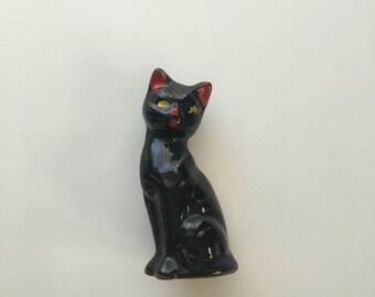 cat figurine home decor black cat magic