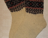 Men socks- hand knitted from natural sheep wool. Size: EU 44 - 44,5 , US 10,5 - 11