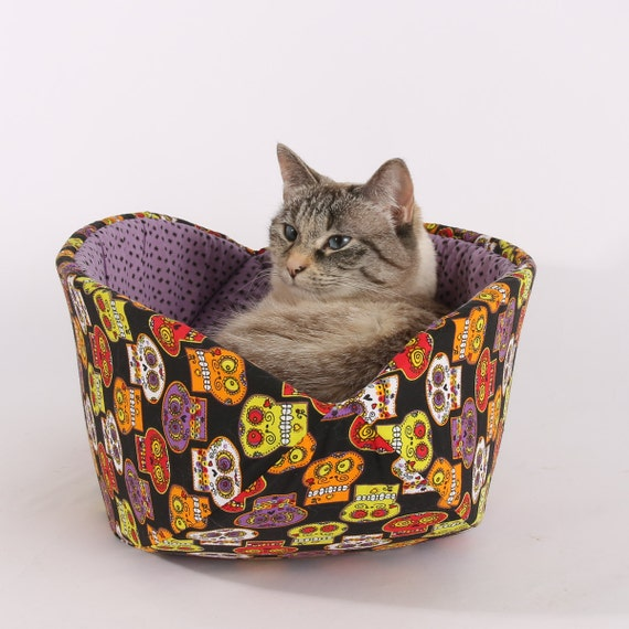 Day of the Dead Cat Bed