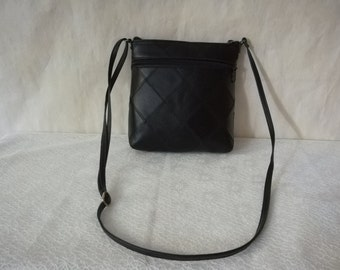 Genuine Black leather bag, Leather cross body bag, Leather Shoulder bag, Crossbody purse