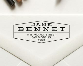 Return Address Stamp, Custom Stamp, Personalized Stamp, Self Inking Stamp, Rubber Stamp, Save the Date Stamp - No. 49