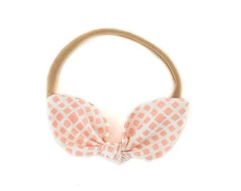Bow Headband - Baby Headband - Bunny Ears Headband - Girls Hair Bow