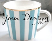 Custom Teacup / Coffee Cup, Personalized Mug, Custom Mug, Personalized Teacup, Bespoke Mug, Wedding Mug, Monogram Cup, Your Design
