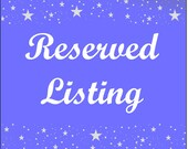 Reserved Listing for M.M.