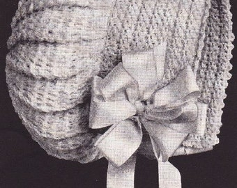 Unique Antique Infant Cap Hat Bonnet Crochet Pattern 1900s [#18]