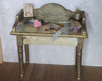 Dollhouse miniature dressing table