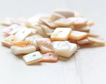 100 pieces / Shell / Semiprecious Stone / Gemstone / Square