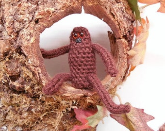 Amigurumi Bigfoot, Baby Bigfoot, Baby Sasquatch, Juvenile Sasquatch, Baby Gorilla, Crochet Bigfoot Toy, Soft Sculpture, Brown, Small Plushie
