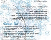 Custom listing for sas32281 - Winter Wonderland Tree invitation Digital Vows