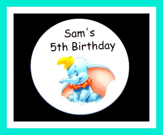 Birthday Party Favor, Personalized Button,Elephant Pin Favor,School Favor,Kid Party Favor,Boy Birthday,Girl Birthday,Pin,Favor Tag Set of 10