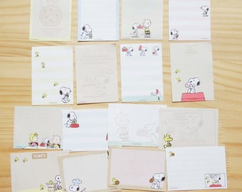 Snoopy Paper set , 16 sheets